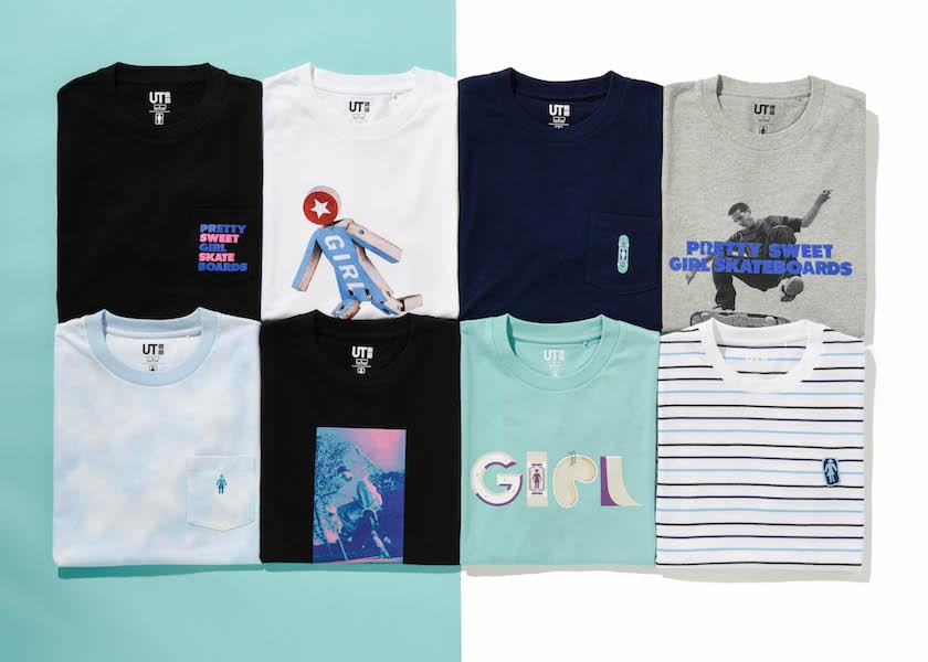 ユニクロでUTとガールスケート ボードのコラボTシャツが1500円で買える!