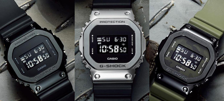"〈G-SHOCK〉の新作""GM-5600""は絶妙の甘辛バランスメタルフェイスの硬質感と柔らかな装着感を両取り!"