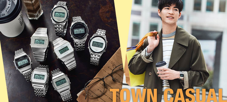 休日スタイルには〈ザ・クロックハウス〉オリジナルブランドの時計で遊ぶ!レトロモダンなデジタル時計なら街歩きスタイルにハマる!